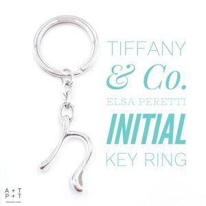 Tiffany & Co. Elsa Peretti Initial Key Ring